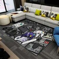 Игровой контроллер для аниме, детские игровые коврики, детский игровой напольный коврик, мультяшный рисунок Супер Марио, 3D коврики с принто...