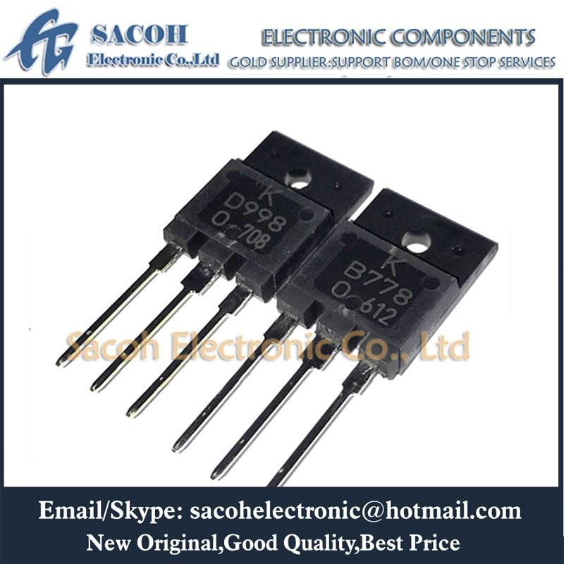 Envío Gratis 5 pares 2SB778 B778 + 2SD998 D998 o KTB778 + KTD998 TO-3PF 10A 120V del transistor de encendido PNP
