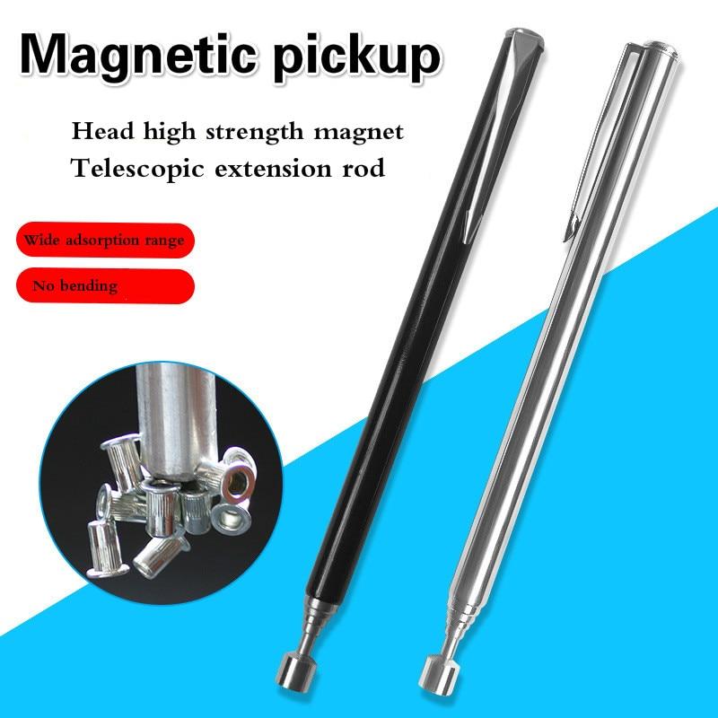 1.5 libras telescópica portátil fácil magnético pegar haste vara estendendo ímã handheld ferramenta telescópica magnética pegar caneta