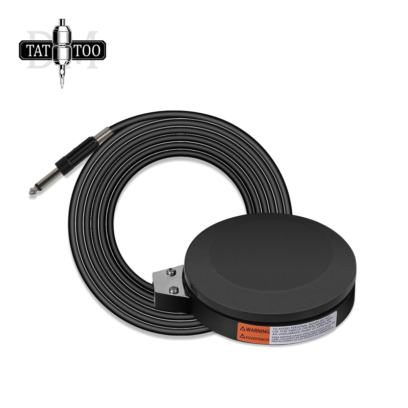 Professional 360 Degre Tattoo Foot Pedal with 1.5M Power Cord Black Round Tattoo Foot Switch for Tattoo Power Supply Machine professional tattoo power supply permanent makeup led screen motor power tattoo machine for liner shader foot pedal high quality