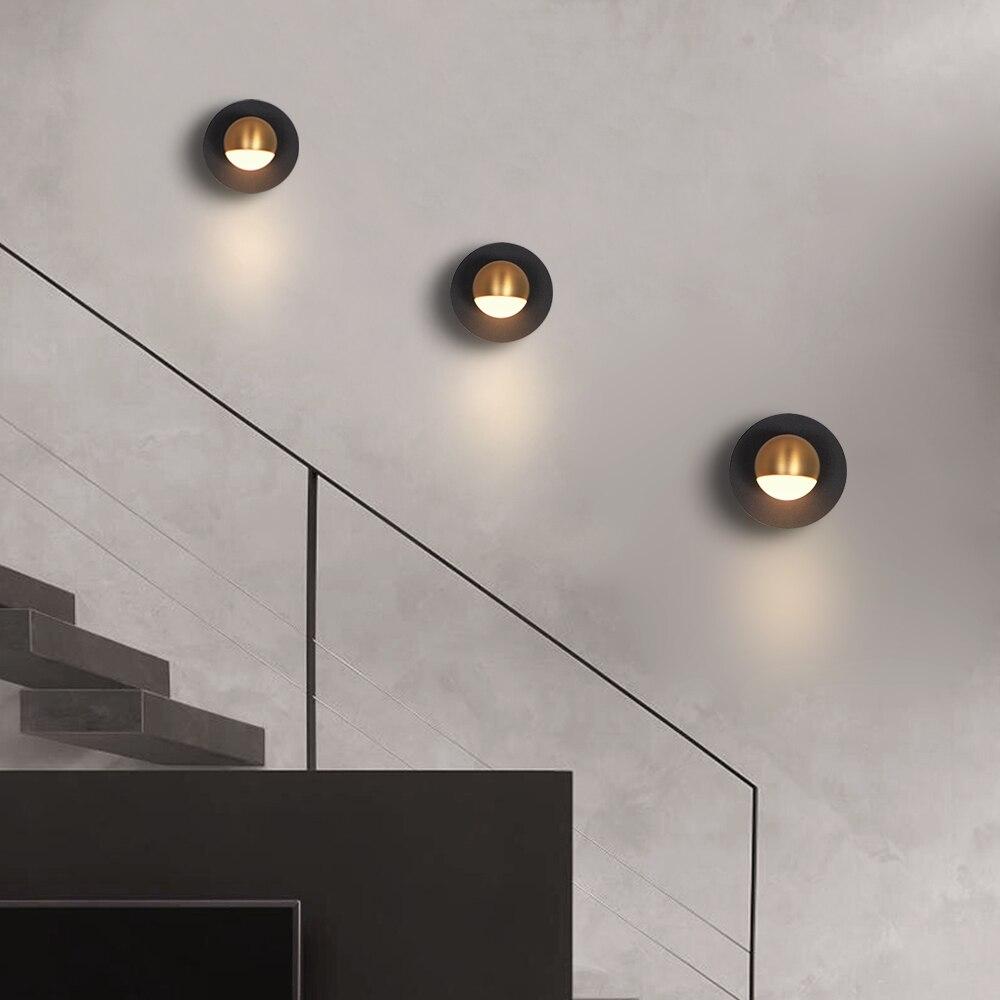 Nordic светодиодный настенный светильник 3 Вт Освещение в помещении стены свет для Гостиная Спальня прикроватный коридор Алюминий