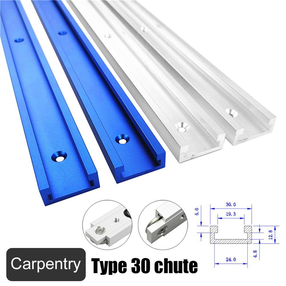 Inglete de ranura en T de aleación de aluminio, accesorio de plantilla para enrutador, sierras de banda para mesa, longitud de herramienta DIY para carpintería 300/400/500/600/800MM