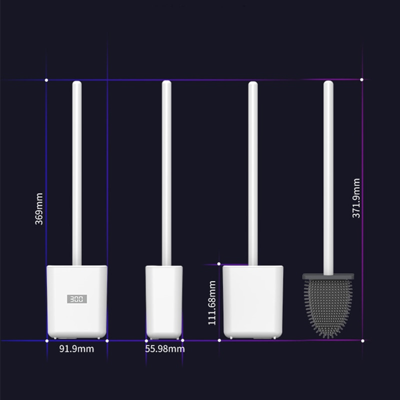 Intelligent Ozone Disinfection Toilet Brush Wall-Mounted Smart Toilet Brush Wc Silicone Cleaning Brush Bathroom Accessories Set enlarge