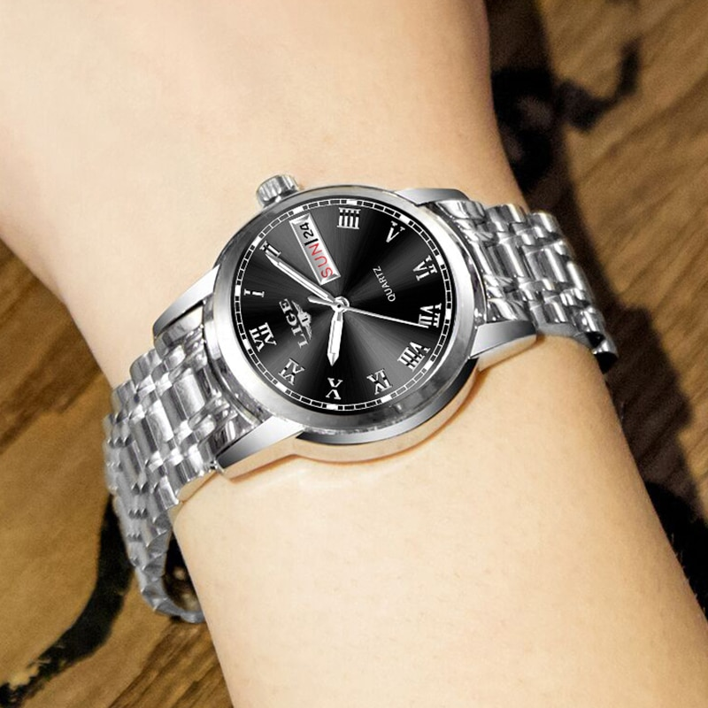 New LIGE Women Watch Luxury Brand Watch Simple Quartz Lady Waterproof Wristwatch Female Fashion Casual Watches Clock reloj mujer enlarge