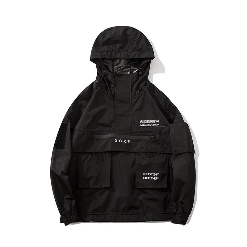 Spring 2020 new diablo style Breathable Tactical Blazer men's loose multi-pocket hooded jacket 11203
