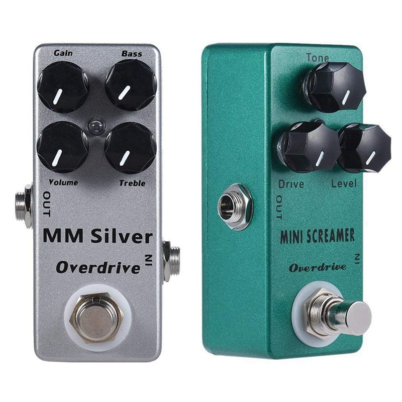 Mosky 2Pcs Electric Guitar Effect Pedal Full Metal Shell True Bypass - Mm Overdrive & Mini Screamer