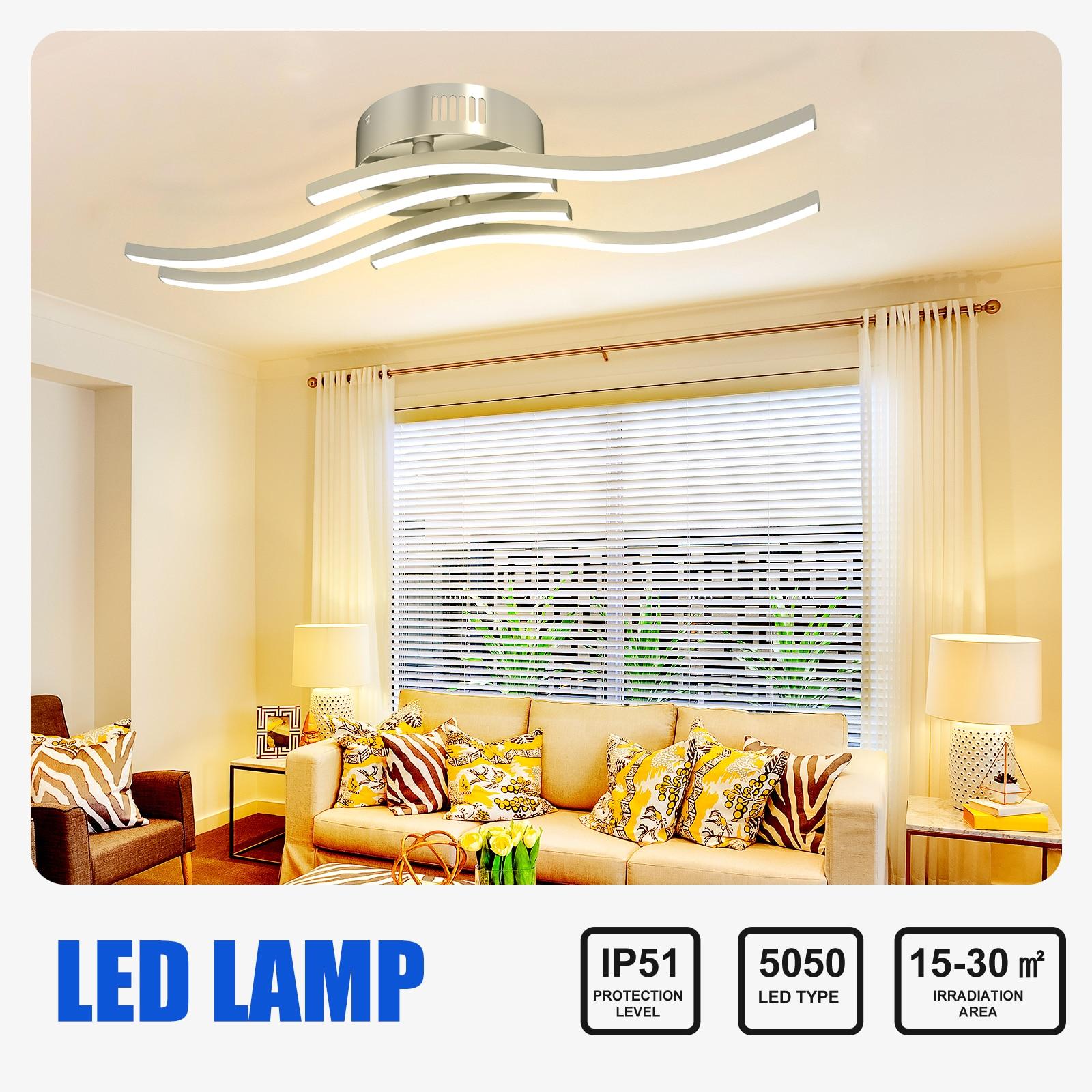 LED Ceiling Lights For Living Room 12W 18W 24W Warm Cold White Modern Design Lighting Lamp Bedroom Decoration Furnitur Dining