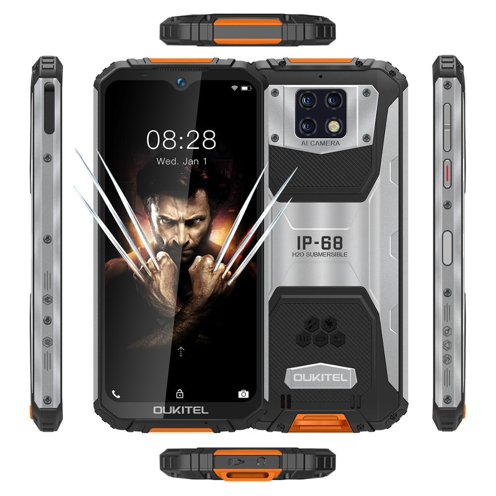 OUKITEL WP6 IP68 Rugged Waterproof Smartphone MT6771T Octa Core 9V/2A 10000mAh Battery 48MP Triple Camera 6GB 128GB Mobile Phone enlarge