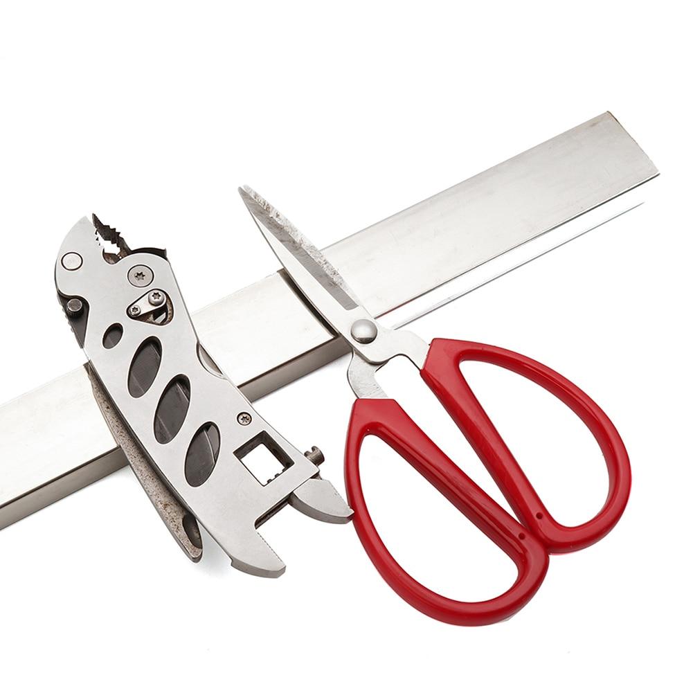 40cm de montagem na parede magnético faca tesoura armazenamento titular rack tira utensílio ímã talheres cozinha gancho armazém ferramentas garagem