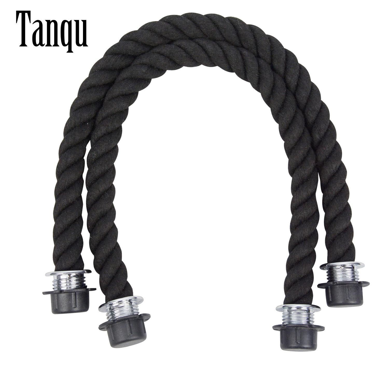 Новинка Tanqu 1 пара, длинная короткая черная натуральная пеньковая веревка, ручка для O bag Obag, женская сумка, Классическая мини-сумка EVA