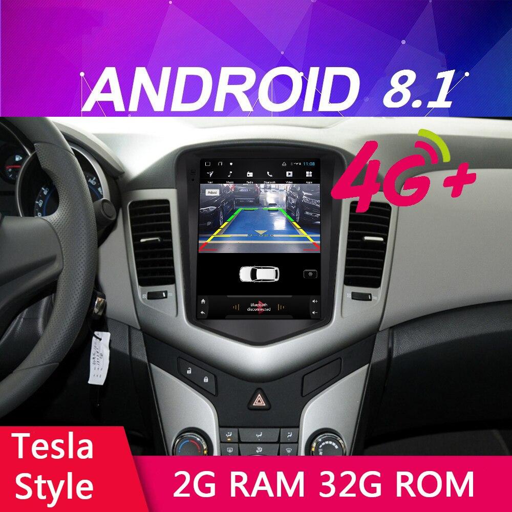 Reproductor multimedia para coche 4G LET, pantalla Vertical de 10,4 pulgadas, Android 8,1, GPS Navi, para Chevrolet Cruze 2008-2014, Wifi, Bluetooth, 32G