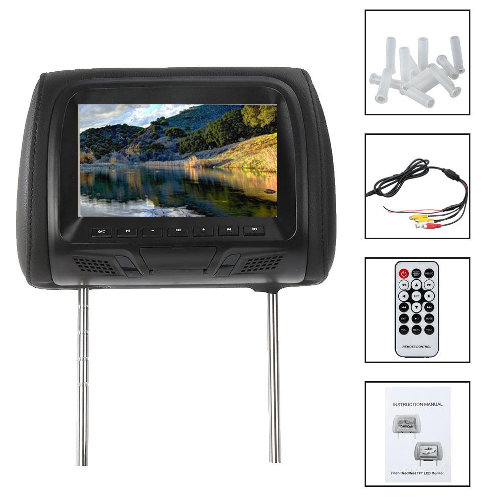 Universal 7 pulgadas Monitor para reposacabezas de coche de entretenimiento para asiento trasero reproductor de medios múltiples asiento USB SD MP5 accesorios de coche