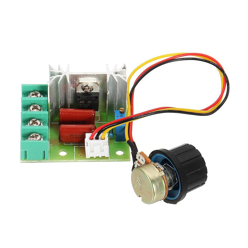CLAITE 2000W Thyristor Governor Motor 220V Regulating Dimming Thermostat Module Dimmer NEW