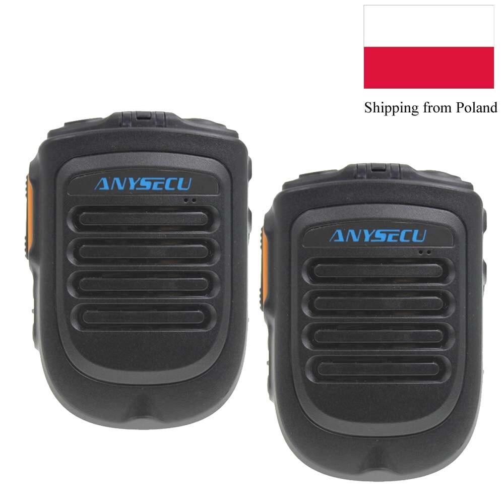 2 قطعة/الوحدة ANYSECU ميكروفون لاسلكي BT4.2 B01 ل 3G 4G شبكة راديو w2plus N60 F60 F50 F25 IP راديو العمل مع REALPTT ZELLO