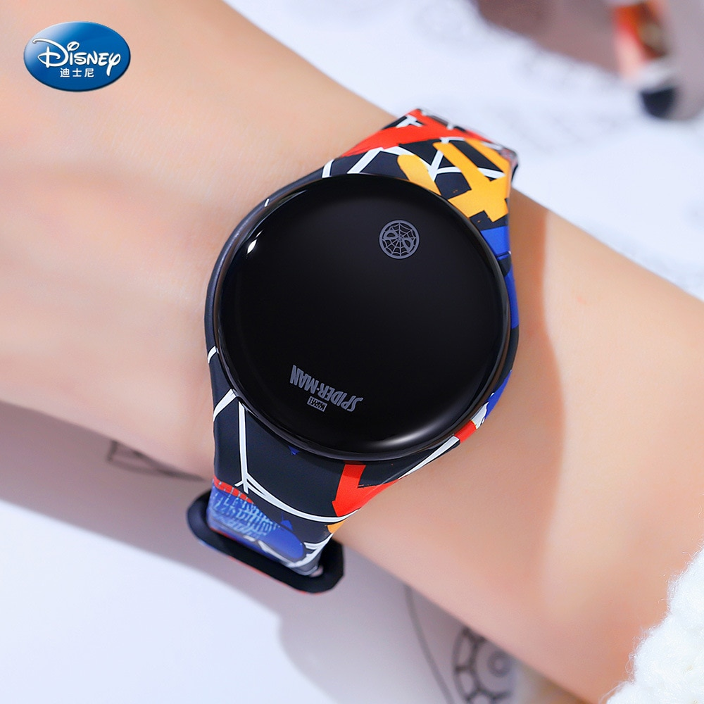Reloj Digital Disney Mickey Mouse, reloj deportivo con pantalla táctil de dibujos animados para niños y niñas