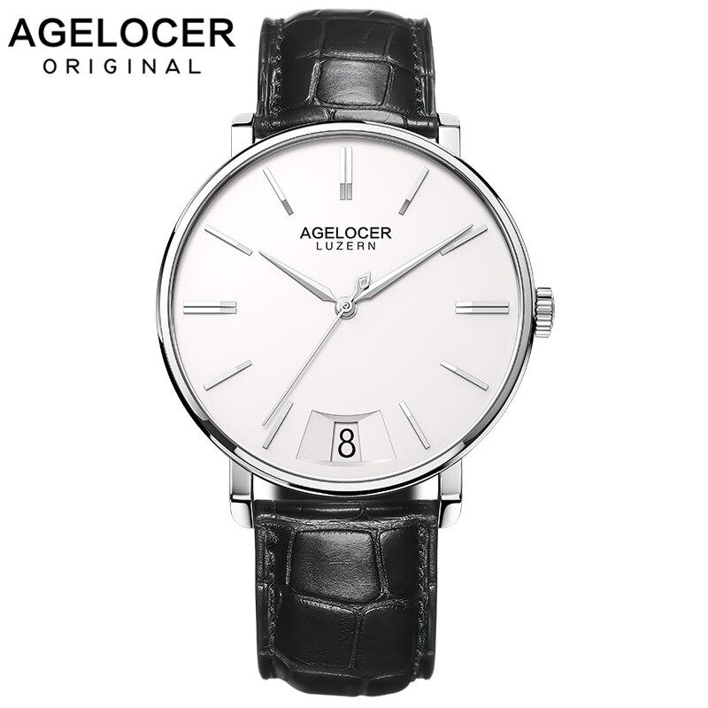AGELOCER-ساعة يد كوارتز سويسرية للرجال ، ساعة رجالية فاخرة لرجال الأعمال ، 2020