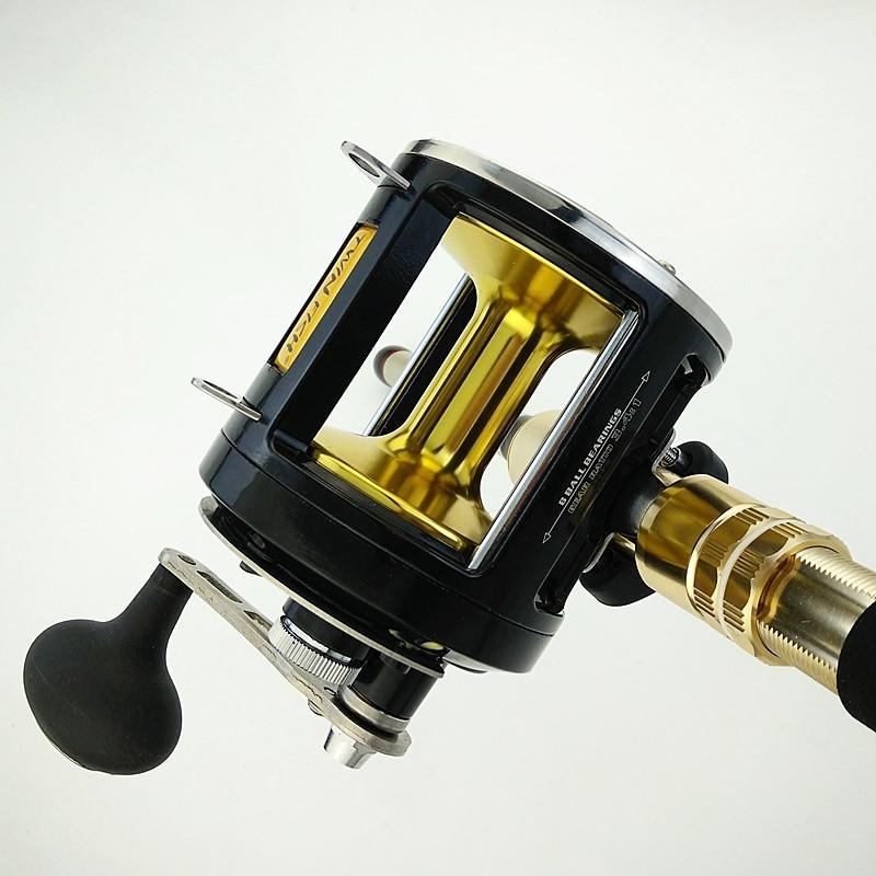 12000 series Max power 25kg casting reel 8 bearings deep sea fishing trolling reel metal coil right hand black fishing wheel enlarge