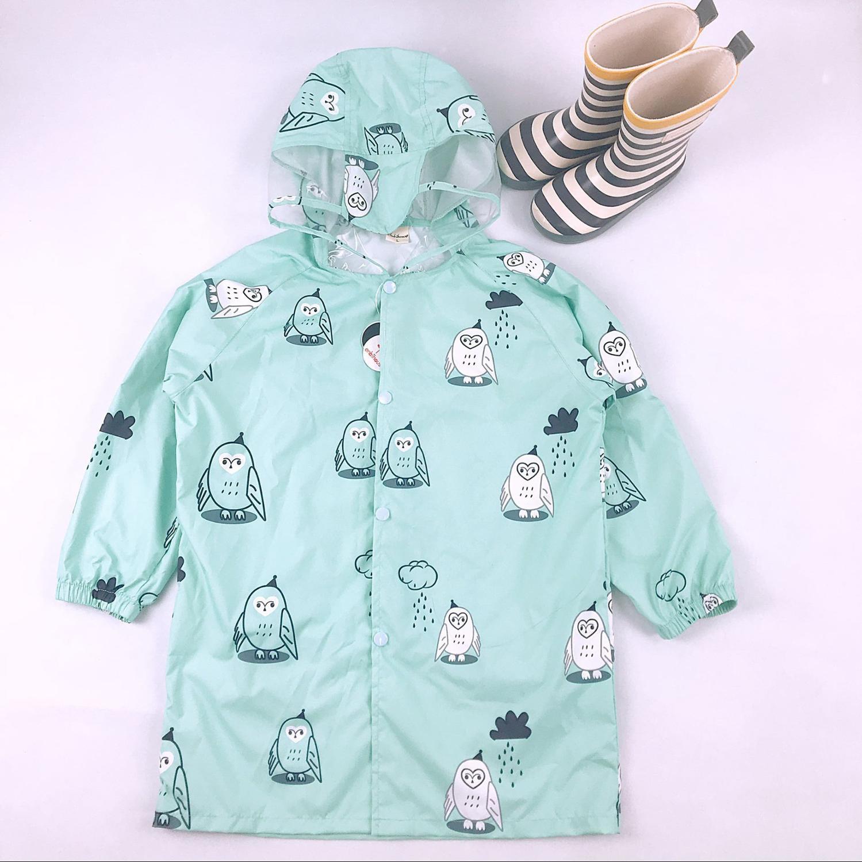 Chubasquero para niños, impermeable con dibujos animados, abrigos de poliéster para niños y niñas, ropa de moda para niños, chaqueta para niñas, abrigo Rainsut