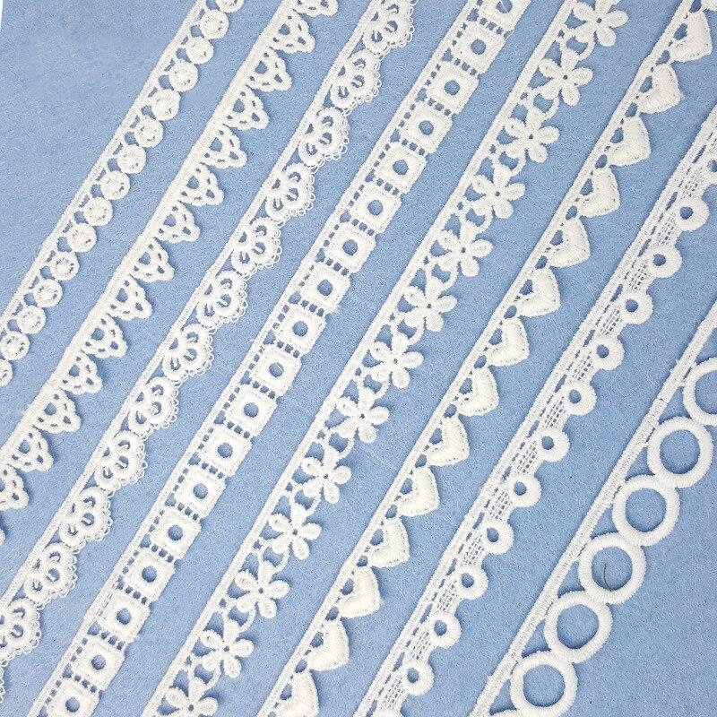 10 yardas de seda de leche soluble en agua bordado de encaje de Bar pequeño código de punto al por mayor de la computadora bordado de encaje ropa interior Accesorios