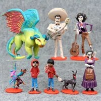 disney coco anime figure set miguel model toy collectible dolls furnishing articles cake decoration surprising gift for children