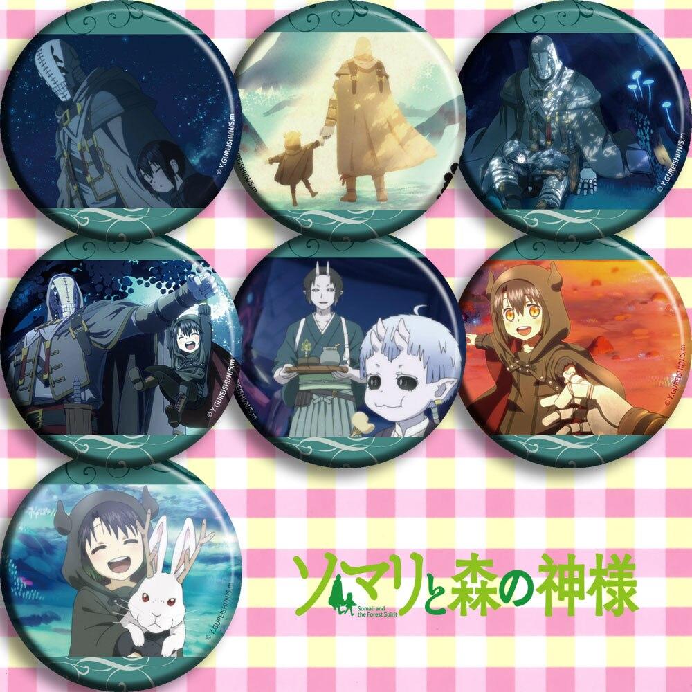 1 unidad 58 insignias mm Anime somalí a Mori no Kamisama somalí y el bosque espíritu somalí Broche iconos Broche