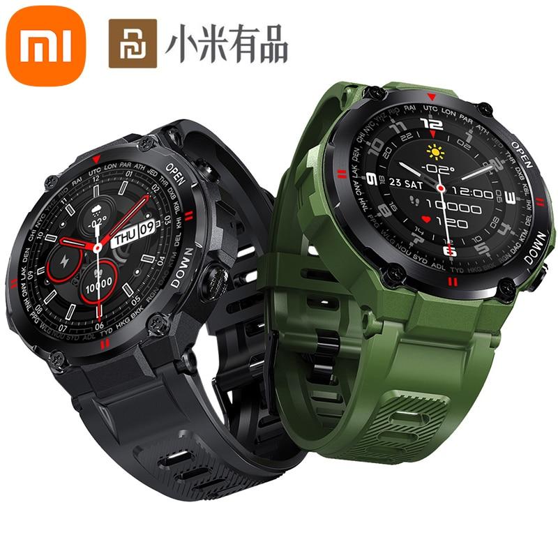 Modos de Esportes Xiaomi Relógio Inteligente Homem Bluetooth Chamada Exercício Passo Contando Vários Freqüência Cardíaca Tempo Exibição Jogar Música Ip67