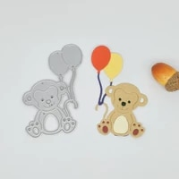 new animal monkey balloon metal cutting mold photo album paper diy gift card decorative relief cube