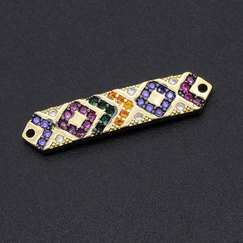 6x26mm CZ zirconia DIY joyería Arco Iris Bar Charm conectores venta al...