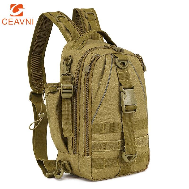 Crossbody حقيبة الصيد التكتيكية الظهر مقاوم للماء تسلق في الهواء الطلق الكتف الرياضة حقيبة صدر للرجال العسكرية إغراء معالجة الرجال على ظهره