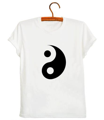 Летняя женская футболка с принтом Инь Ян тайчи, женские футболки 2020, уличная одежда в стиле Харадзюку, дышащая одежда с круглым вырезом|Футболки| | АлиЭкспресс