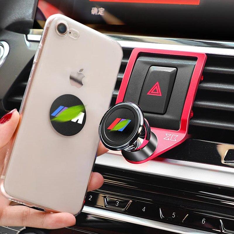 Soporte de teléfono móvil para salida de aire de coche de aleación de aluminio de 3 colores para BMW X3 X4 G01 G02 2018 2019, accesorios