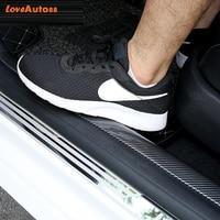 Car Carbon Fiber Mouldings Strip Bumper Decorative Strips Door Sill Protection for Skoda Octavia A7 A4 A5 2021 2020 2019