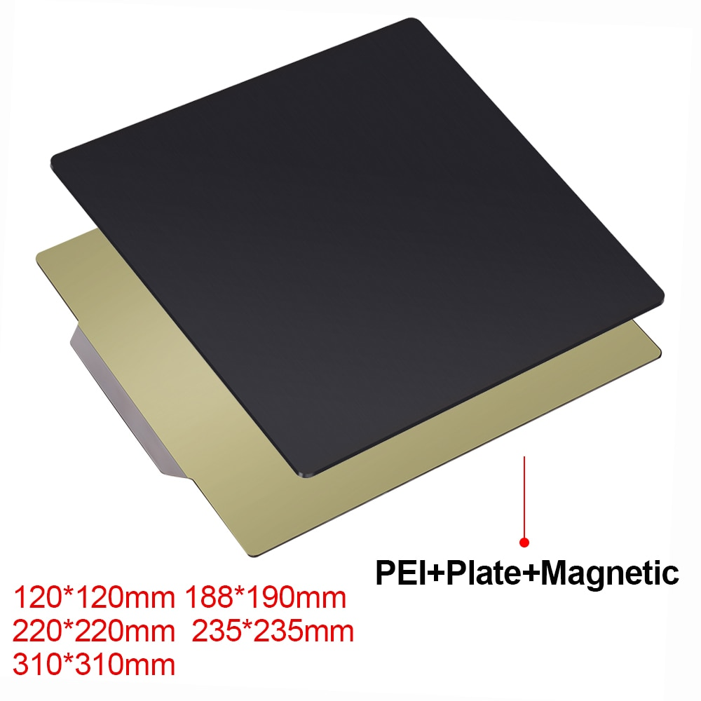 3D Printer Parts Removal Spring Steel Sheet PEI Flex Magnetic Sticker 220x220 235x235 310x310mm for ender 3 CR10 Heat bed