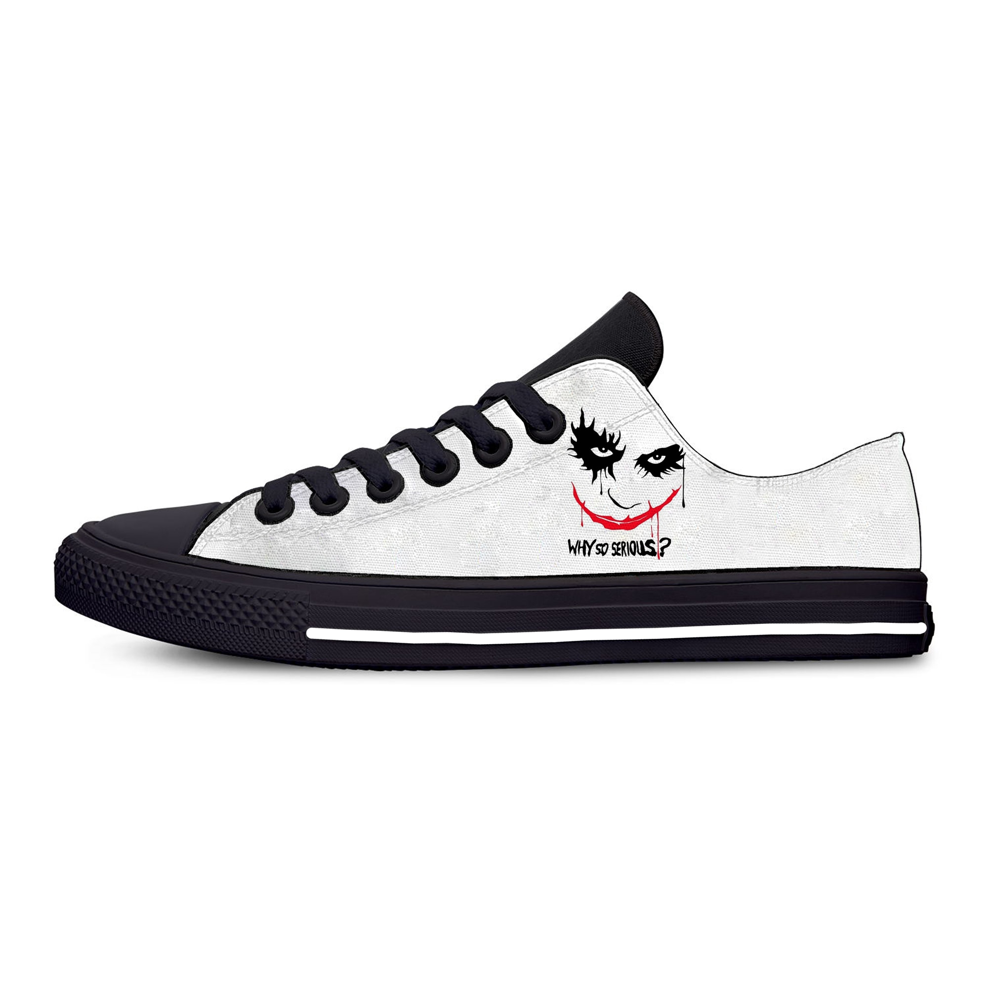 Clown joker face joke Why So Serious Cool Funny Casual Cloth Shoes Low Top Lightweight Breathable 3D Printed Men women Sneakers