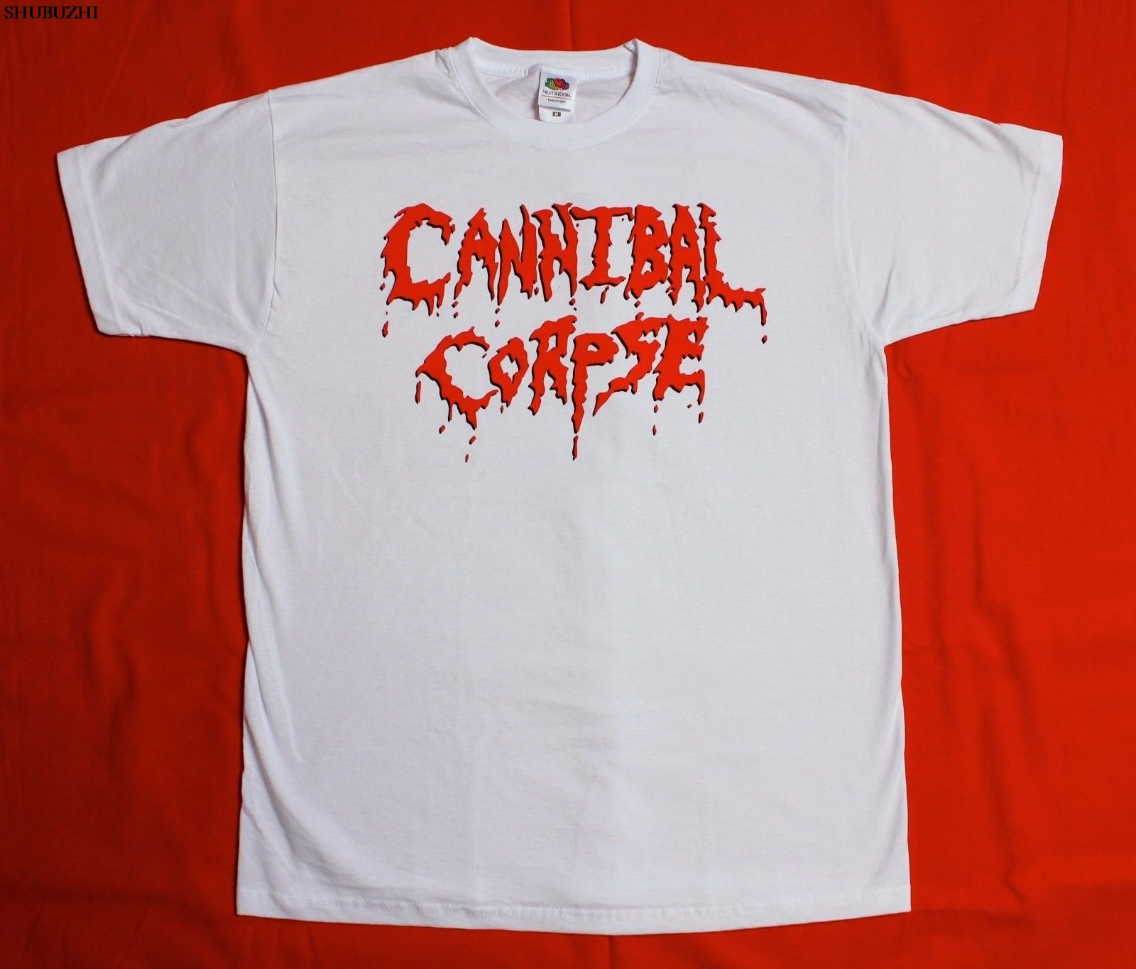 CANNIBAL CORPSE LOGO DEATH METAL GRINDCORE CHRIS barns nueva camiseta blanca estampada Camiseta estilo de verano camiseta superior