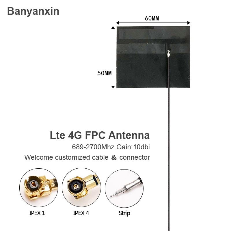 10dBi IPEX lte 4g PFC antenna 698-2700Mhz flexible ulf internal adhesive  10PCS / batch