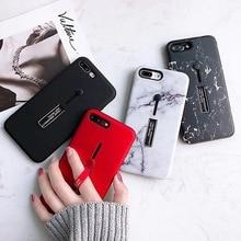 Marble Loop Ring Invisible stand holder phone case for iphone XS MAX X 7 XR 8 6 6S plus funda de lujo brillante de marmol cover
