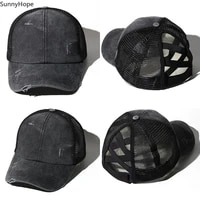 summer breathable mesh baseball cap men women adjustable snapback sun hat hip hop dad trucker streetwear mesh hat