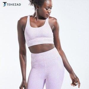 TEHEZAD Women Yoga Sport Bra Large Size Female Clothing Running Underwear Ladies Camis Fitness Top Tank Gym Push Up Workout