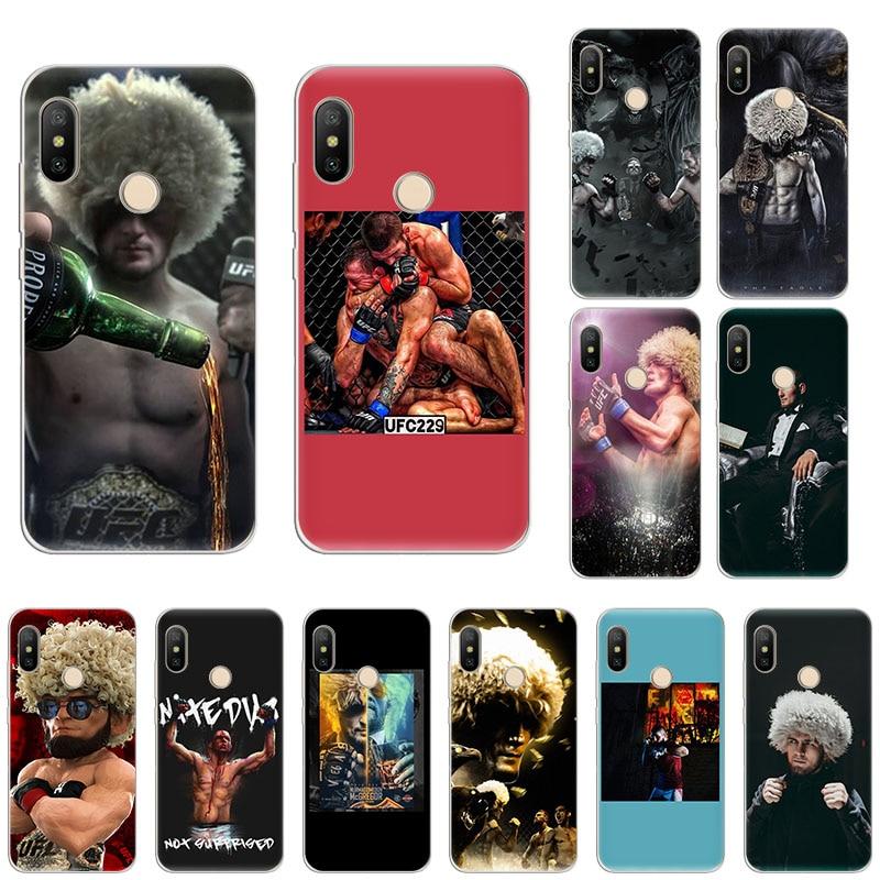 KHabib, Nurmagomedov, súper funda de teléfono para Xiaomi de silicona suave para boxeo, Mi Note 10, 9T, CC9, 9, 8, A3, A2, 6x, Redmi Note 8T, 8A, 7, 5 Pro, 6, 4x