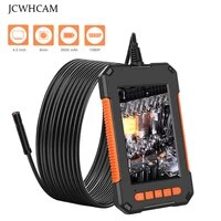 hd 1080p industrial endoscope camera 8mm dualsingle lens snake cable ip68 digital borescope with 4 3 inch screen for car repair