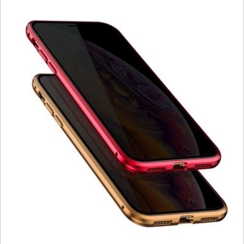 جراب زجاجي مغناطيسي مضاد للتجسس لهاتف iPhone ، واقي مغناطيسي كامل للخصوصية 50x ، متوافق مع iPhone 12 ، 11 Pro Max ، 7 ، 8 plus