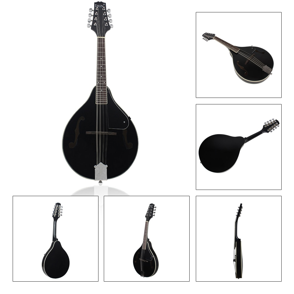 M MBAT Mandolin Guitar A-Style 8-String Basswood Traditional Mandolin Set Musical String Instrument for Benginners with Bag enlarge