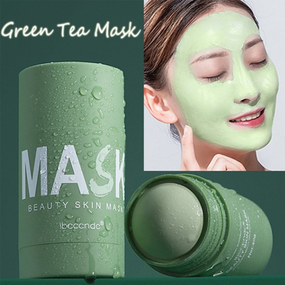 Green Tea Mask stick Moisturizing Hydrating Solid Mask Whitening Deep Cleansing Oil-control Acne Removal Face mask skin Care недорого
