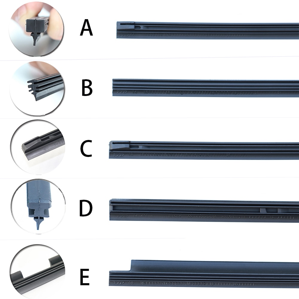 Coche limpiaparabrisas accesorios recarga Natural de goma para BMW mercedes benz audi a4 b6 ford focus 2 Valeo tipo