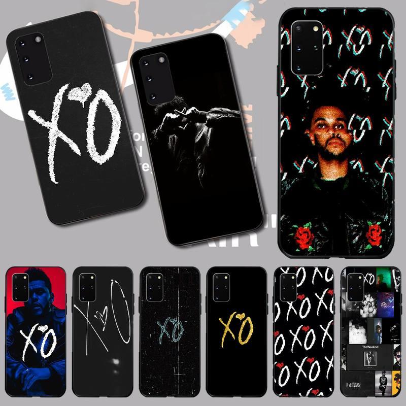PENGHUWAN The Weeknd XO Black Soft Shell Phone Case Capa for Samsung S20 plus Ultra S6 S7 edge S8 S9 plus S10 5G