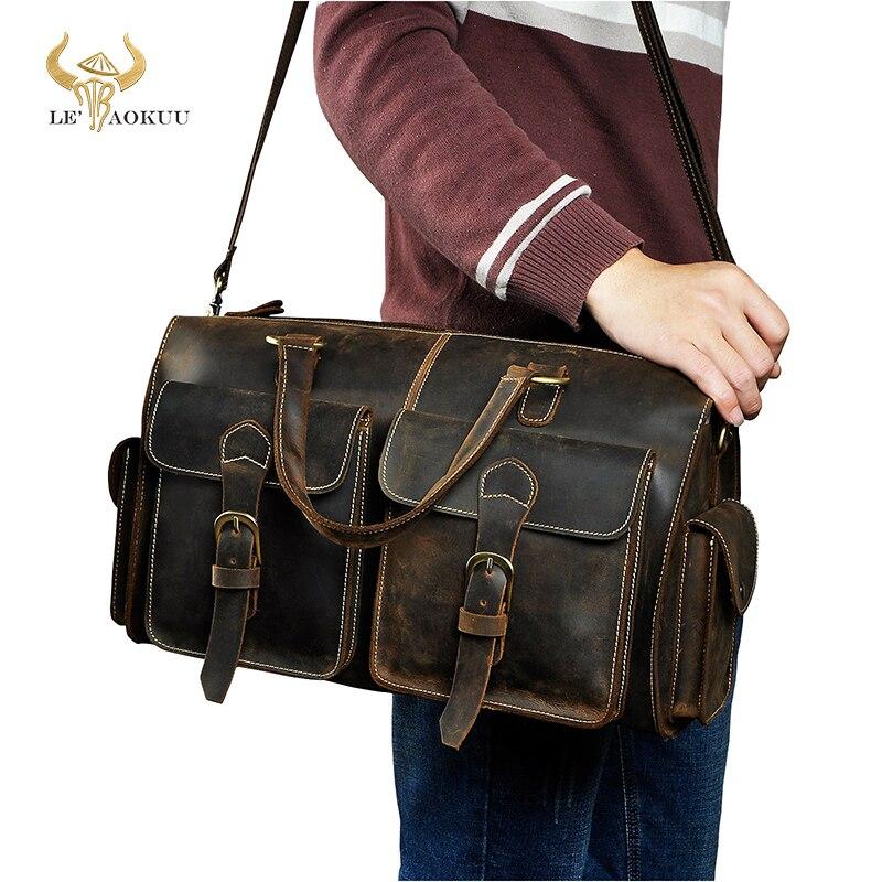 Men Origianl Leather Designer Travel Business Briefcase Heavy Duty Computer Laptop Bag Attache Portfolio Tote Messenger Bag 1097