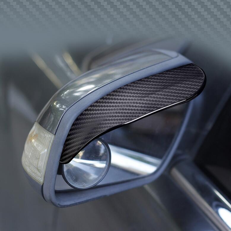 De fibra de carbono espejo retrovisor del coche lluvia CEJA para VW MK4 Bora Golf 4 5 6 Passat Polo Bora Touran