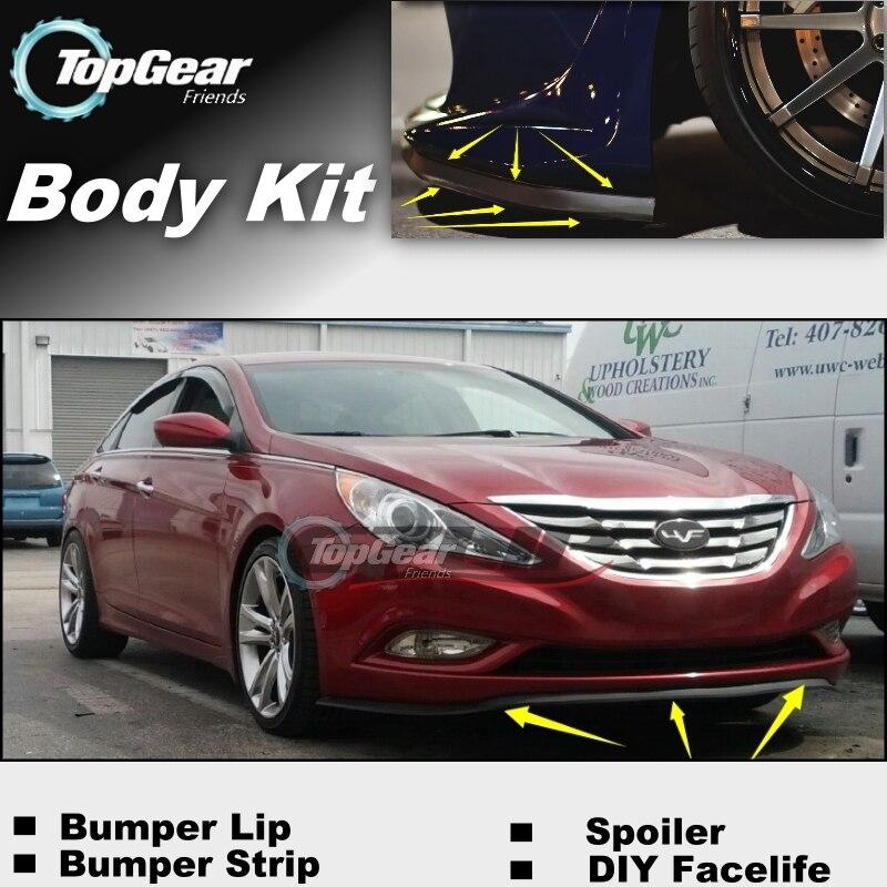 Para Hyundai Sonata/i45/Sonica/Prima parachoques labio/Spoiler frontal Deflector para personalización de automóviles ver/Kit de cuerpo/de la falda