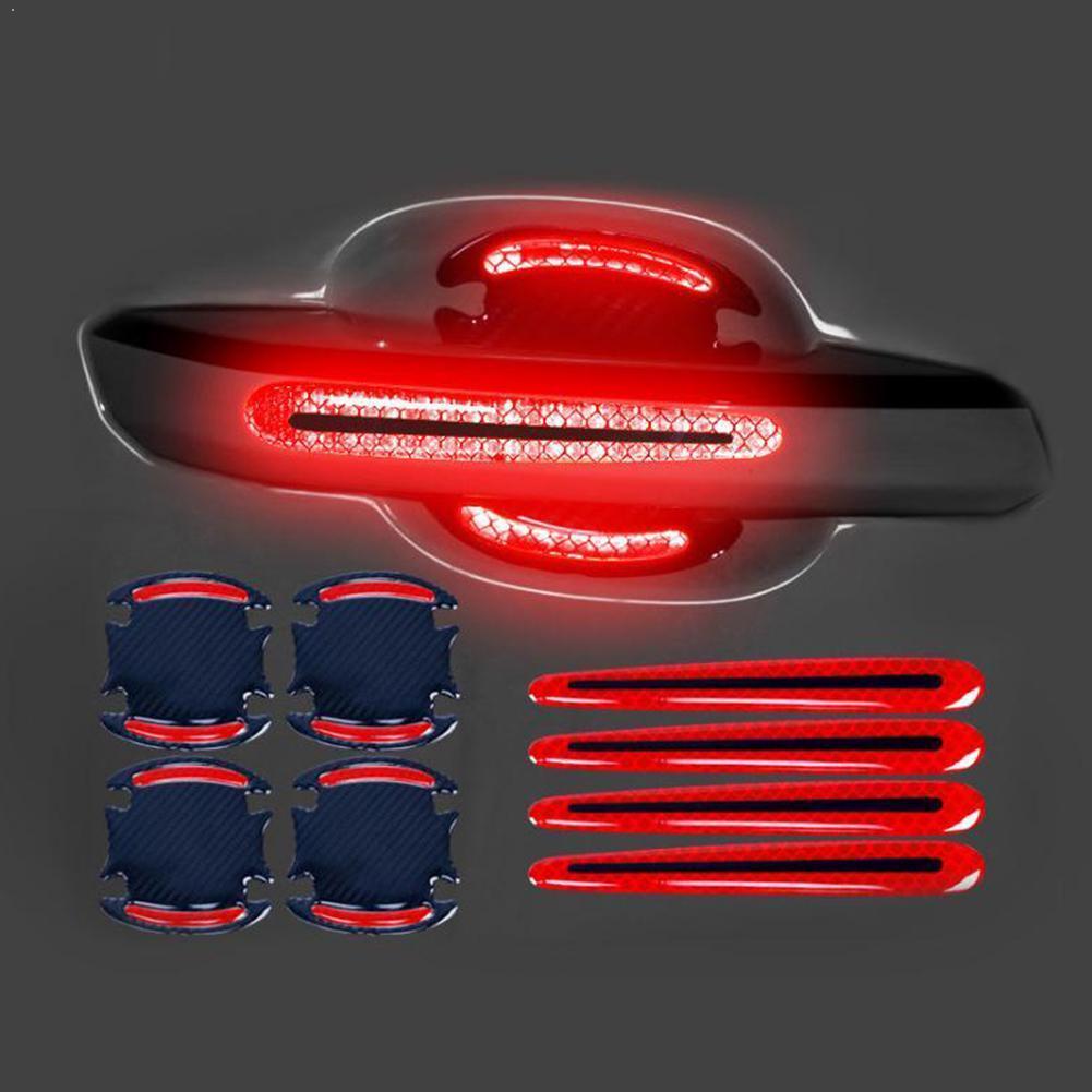 3D Car Reflective Sticker Tape Reflector Warning Handle Door Strip Bowl Bumper Exterior Accessories Car Cover U2Q9